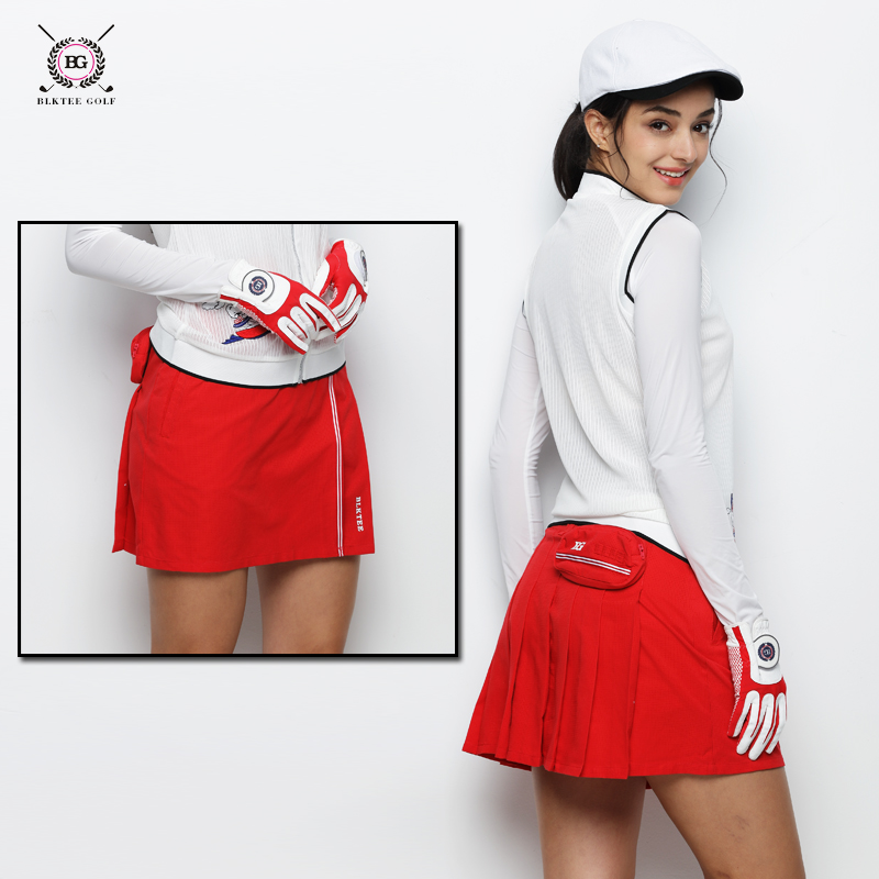 BG Golf Skirt Lady Summer Outdoor Golf Skorts Female Spring Golf Apparel Breathable Golf Sports Short Skirts For Girls 3 Colors women summer spring black pencil mini skirt sexy female elegant short sheath slim office lady skirt casual fashion work skirts