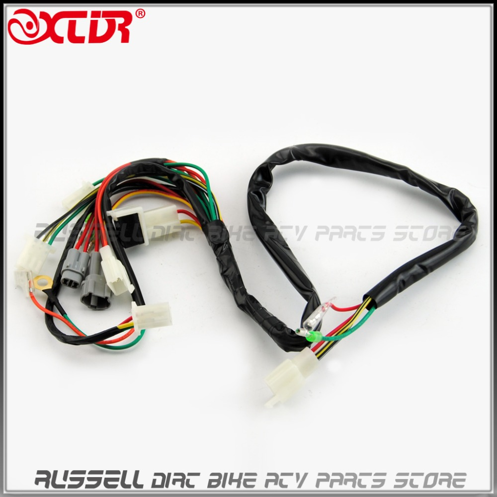 COMPLETE WIRE WIRING HARNESS Loom Ignition Switch CDI Unit Magneto ...