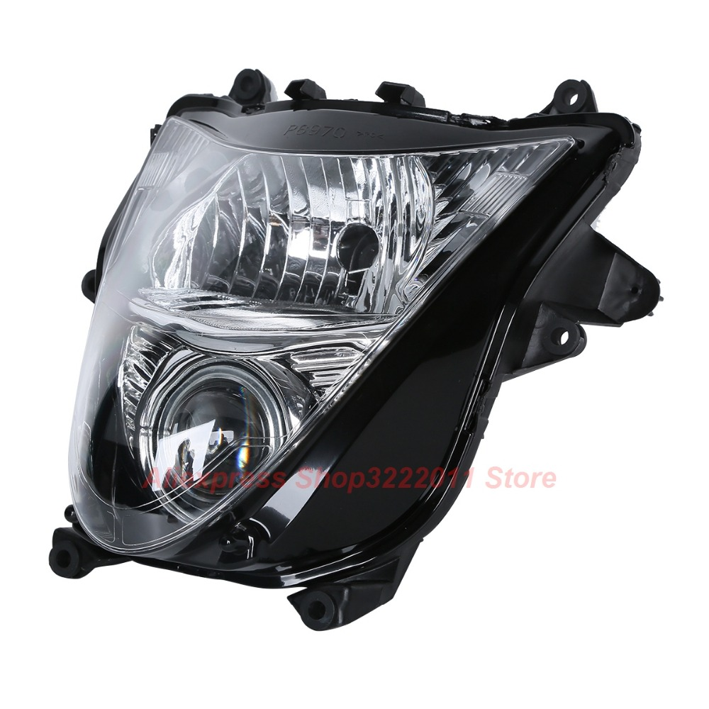 Clear Lens Motorcycle Plastic Front Light Lamp Case For Suzuki Hayabusa GSX-R1300 GSX1300R 2008-2011 Headlight Housing Set black headlight for suzuki hayabusa 1300 gsx1300r 1999 2007 front brand new motorcycle clear light lamp from china