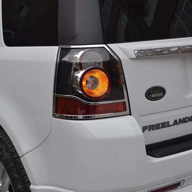 Luhuezu Chrome Tail Lamp Cover For Land Rover Freelander 2 Accessories car rear trunk security shield cargo cover for land rover freelander 2 lr2 2006 2017 high qualit black auto accessories