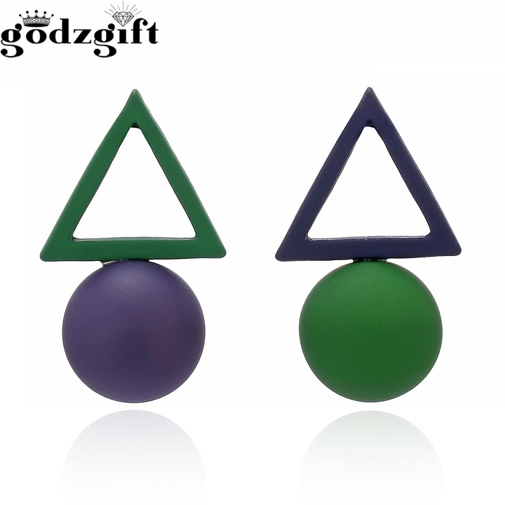 Godzgift Fashion Triangle Alloy Geometry Earrings For Women Bohemia Clip Ring Earring Jewelery Gifts New Discount JE5163