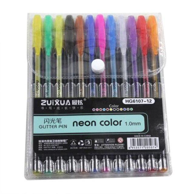 Aliexpress.com : Buy ZUIXUAN 12 Gel Pens set Color gel pens Glitter ...