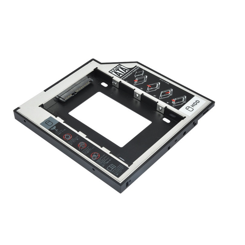 "Aluminum 2.5"" Internal SSD 12.7mm Hard Disk Caddy Tray Enclosure for Laptop notebook mac book"