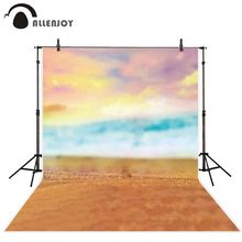 Allenjoy background for photo studio pink clouds beach sea baby shower backdrop photography photocall photobooth banner fabric цена в Москве и Питере