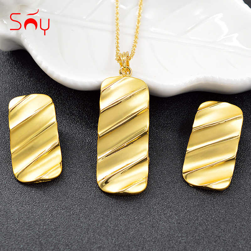Sunny Jewelry Trendy Jewelry Findings Big Square Jewelry Sets For Women Necklace Earrings Pendant For Wedding Jewelry Findings
