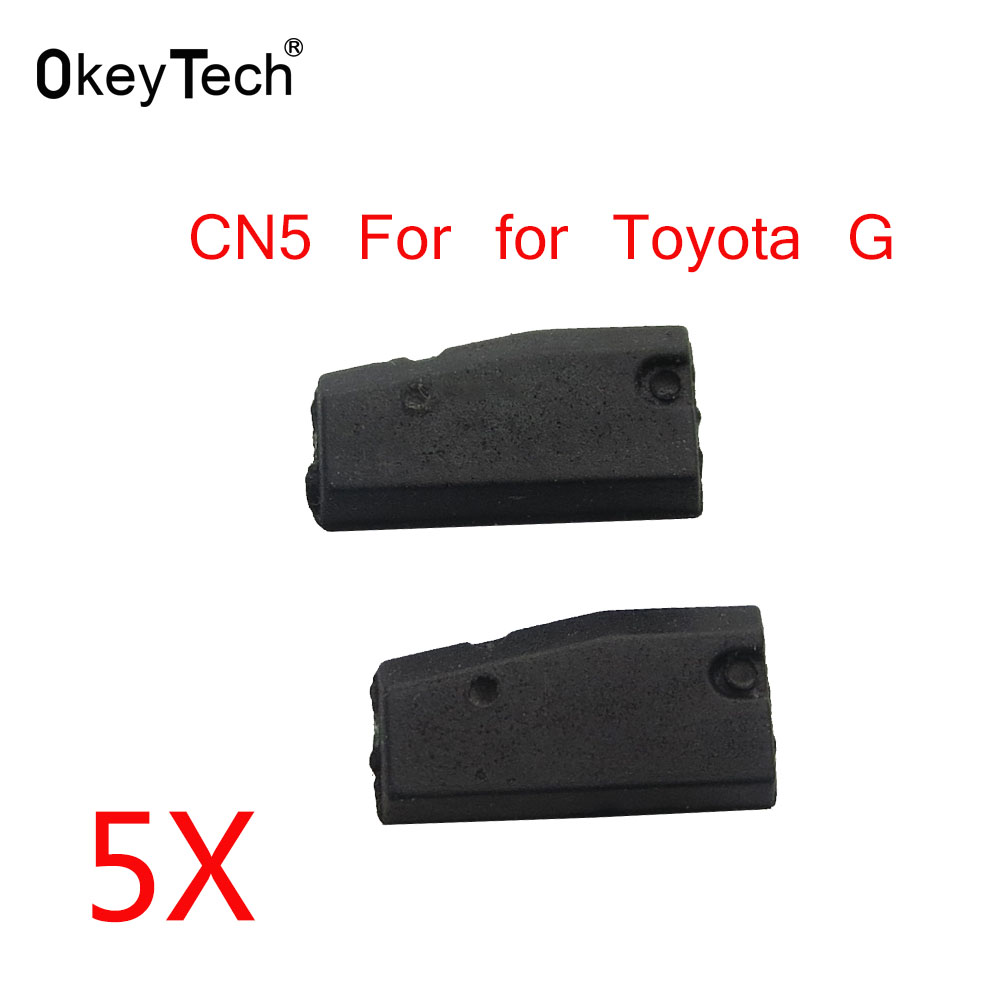 OkeyTech 5pcs/lot CN5 Car Key Chip Copy for Toyota G Auto Car Key Transponder CN5 Chip 80 Bits for CN900 ND900 Free Shipping-in Car Key from Automobiles & Motorcycles