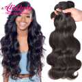 "Peruvian Virgin Hair Body Wave 4 Bundles Human Hair Peruvian Body Wave Bundles 8-28"" 7A Unprocessed Virgin Peruvian Hair Bundles"