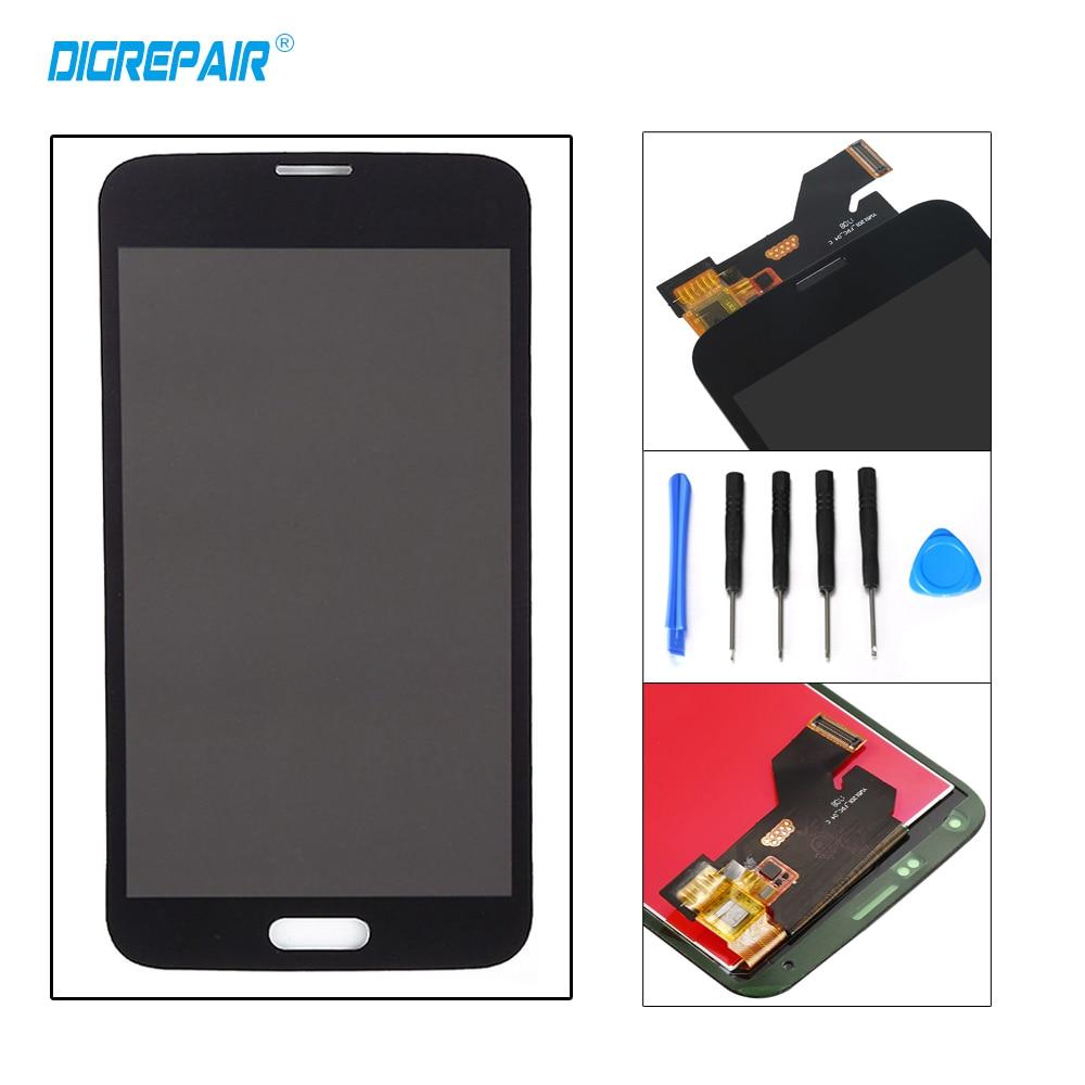 AAA negro blanco para Samsung Galaxy S5 G900A G900F G900P G900T G900V pantalla LCD pantalla táctil digitalizador pieza completa de la Asamblea + herramientas