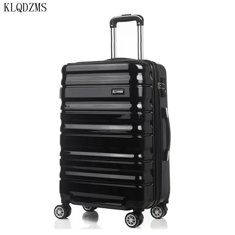 KLQDZMS 20/24inch ABS+PC Rolling Luggage Spinner Carry-On Suitcase On Wheels Travel Trolley Luggage