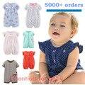 2017 девочка одежда один-шт комбинезоны комбинезоны детская одежда, с коротким рукавом ползунки детской одежды девушки bebes девочек комбинезон bebes