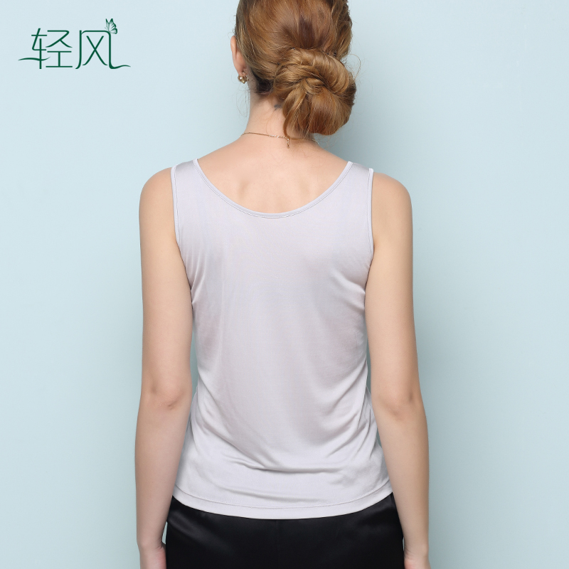 Ladies Silk Embroidery Lace Vest 100% Silk Fine Knit Sleeveless Vest Primer