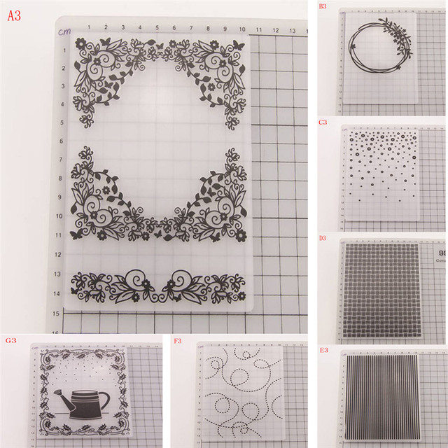 NEW Plastic Embossing Folder Clear Stamps Cutting Dies Set DIY Craft Template Stamp Paper Cards Photo Album Making Tool