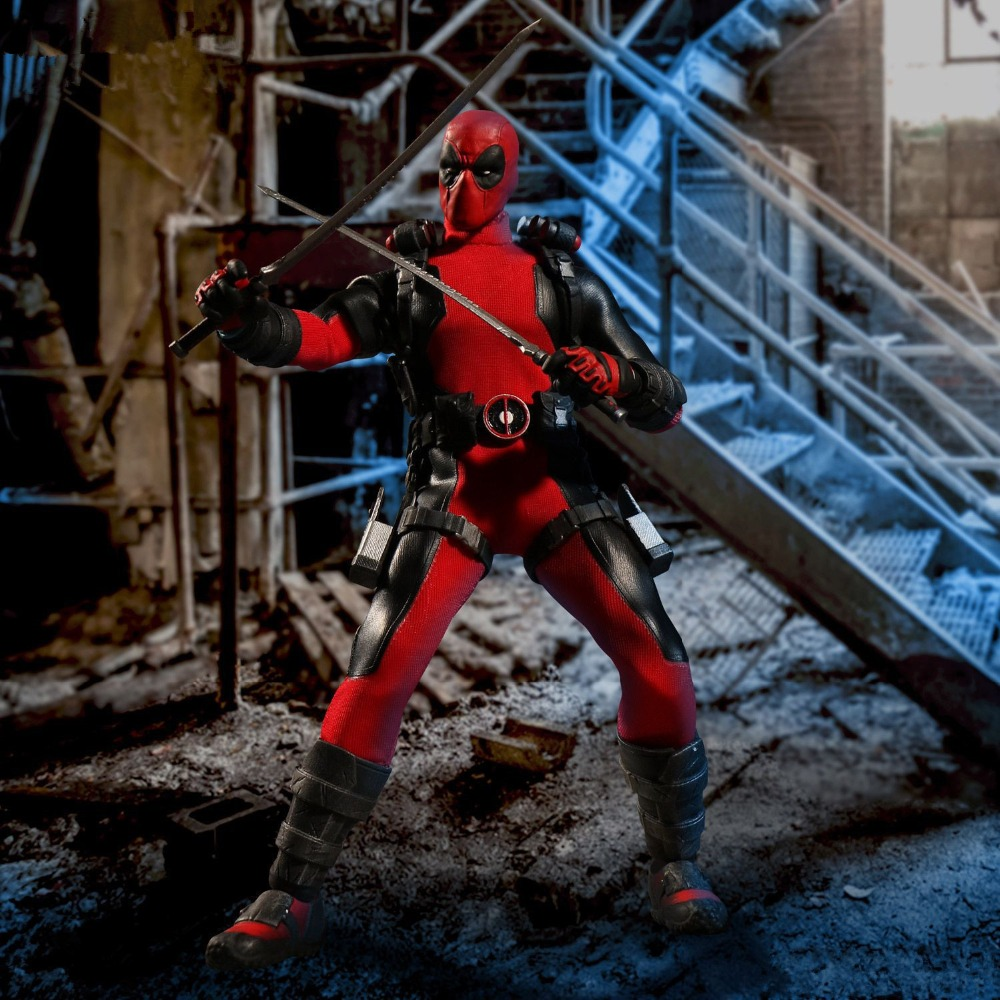 Deadpool One:12 Collective Action Figure Model Toy (real clothes) 18cm toysDeadpool One:12 Collective Action Figure Model Toy (real clothes) 18cm toys
