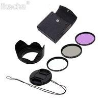 Ikacha 49mm 58mm 67mm 55mm UV Filter 52mm FLD CPL Lens Set Lens Hood For Canon