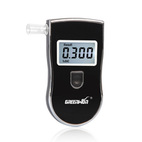 GREENWON Russian Manual Digital Alcohol Tester AT818S Update Version with 5 mouthpieces Free Shipping
