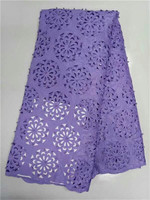 Африканский хлопок Кружево Лидер продаж Новое поступление фиолетовый Цвет Африканский шнур Кружево/гипюр Кружево ткани высокого quality506 1 1