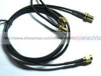 5 шт. 1 м антенна c разъемами RP SMA коаксиальный кабель для Wi-Fi роутера черный
