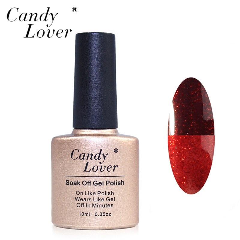 Candy Lover Temperatūros spalva Pakeiskite želė lenkų nagų - Nagų menas - Nuotrauka 1