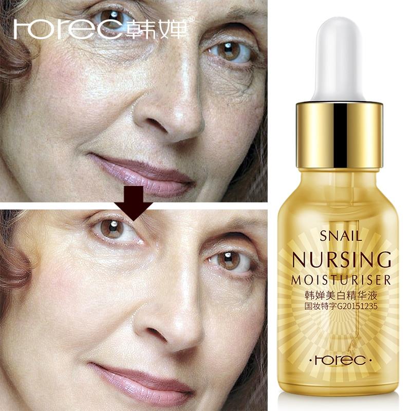 ROREC Snails Whitening Face serum Anti-Aging Hyaluronic Acid Serum Anti-redness Fade Dark Spots Moisturizing essence  skin care