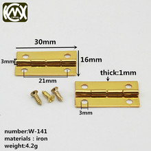 KIMXIN Hardware factory Sell high-grade wooden box hardware fittings Cigar box hinge Iron hinge electroplating gold and silver