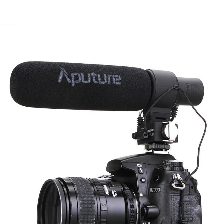 Prix pour Aputure V-MIC D2 Sensibilité Réglable Directionnel À Condensateur Microphone Canon Pour Nikon D3300/Canon Appareil Photo REFLEX NUMÉRIQUE/Caméscope