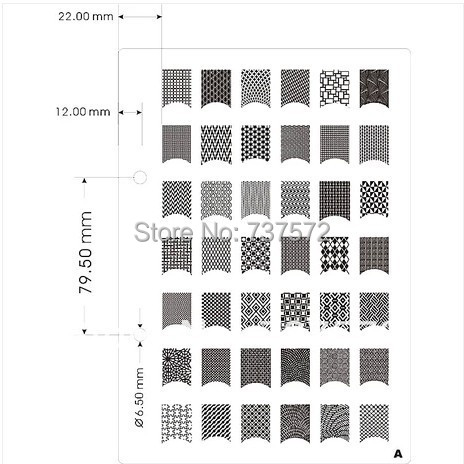 Free Shipping 4pcs/lot A K Series Stainless Steel Nail Art Stickers - free sticker template