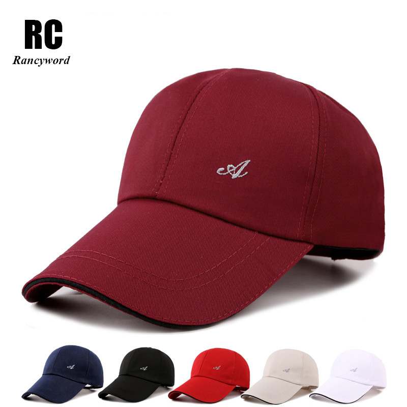 [Rancyword] Brand Baseball Cap for Men Casual Solid Hats Men Golf Hat Snapback Casquette Bone Gorras Low Price RC1044 new 5 panel snapback cap men sports bone baseball cap for female pu brim touca strapback gorras hat casquette adjustable w402