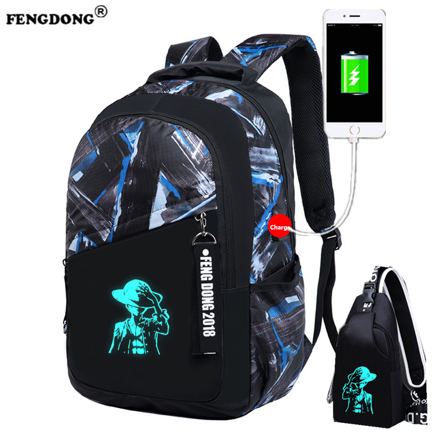 FENGDONG Backpacks Male European and American College Bags Youth Oxford Back Pack USB Charge School Bags Designer Men Backpack fengdong men backpack oxford youth fashion brand usb charge designer back pack college bags school bag waterproof backpacks male