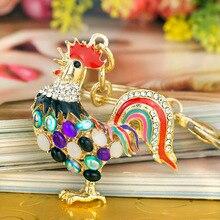 Přívěsek na klíče – barevný krystalový kohout