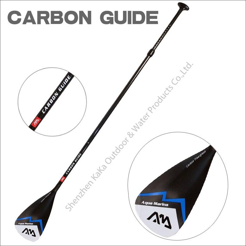 Prix pour AQUA MARINA CARBONE paddle de guidage de fiber paddle pour SUP stand up paddle board pour planches de surf réglable 180-210 cm rame T poignée