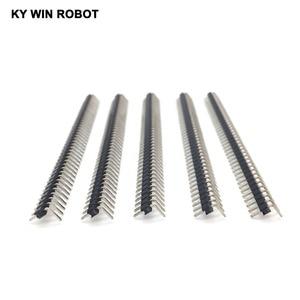 Image 5 - 200 pcs 40 Pin 1x40 Single Row 90 grau 2mm Ângulo Cabeçalho Pin Conector Banhado A cobre faixa de flexão