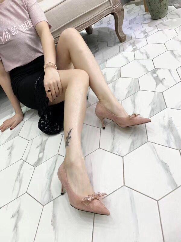 En Chaussures Talons De Hauts Papillon 2019 Pompes Et D'été Printemps Livraison noir Bout Pour noeud Soirée Pic Color Pointu Cuir Femmes Sexy Rapide À Véritable Aq07O