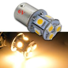 4pcs 6V 12V 24V car 1156 BA15S P21W light turn signal lamp reversing backup blinker brake stop bulb LED 8 5050SMD