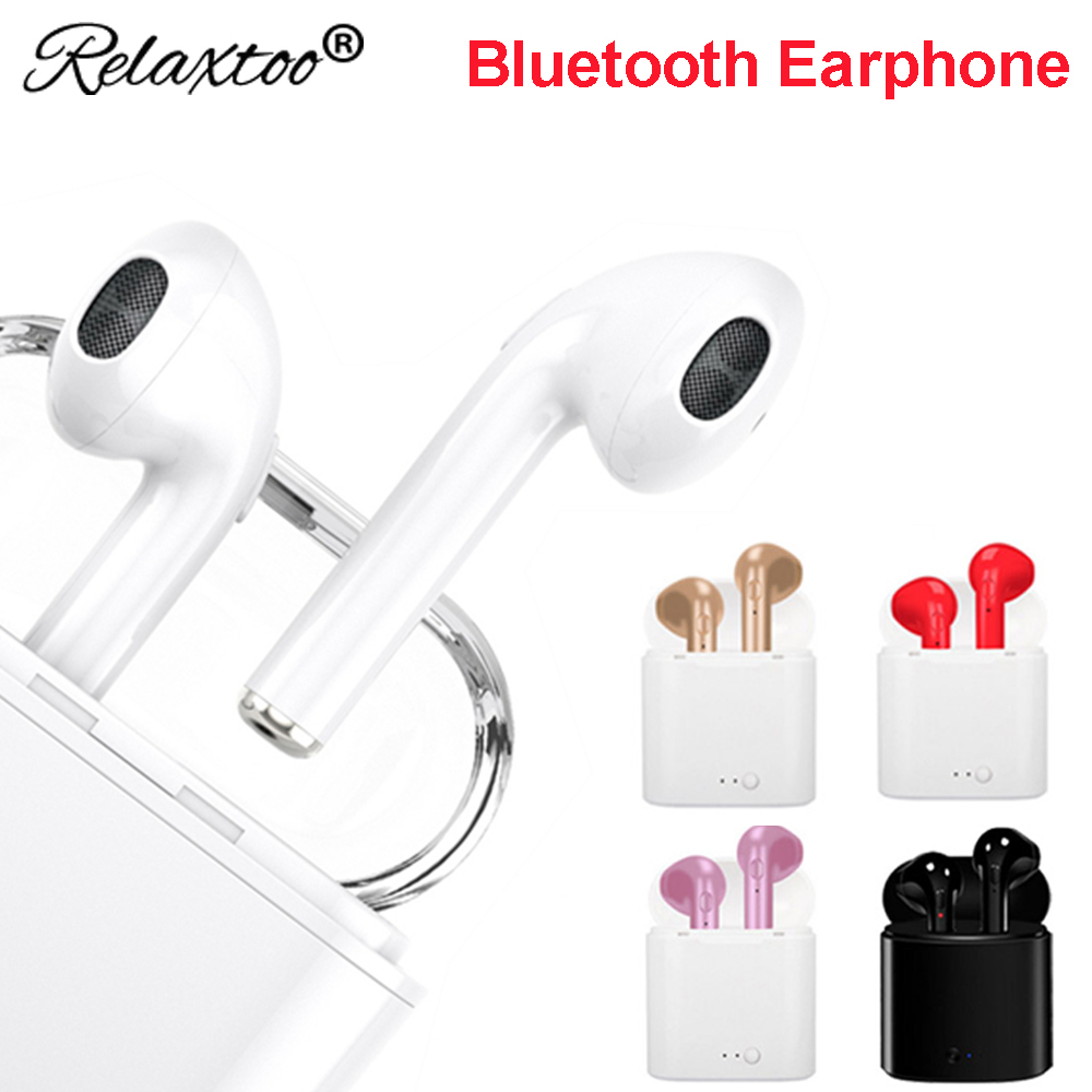 wireless headphone blootooth earphone Stereo Earbuds bluetooth headset For apple iPhone 7 sony xiaomi mi8 huawei p20 pro lite