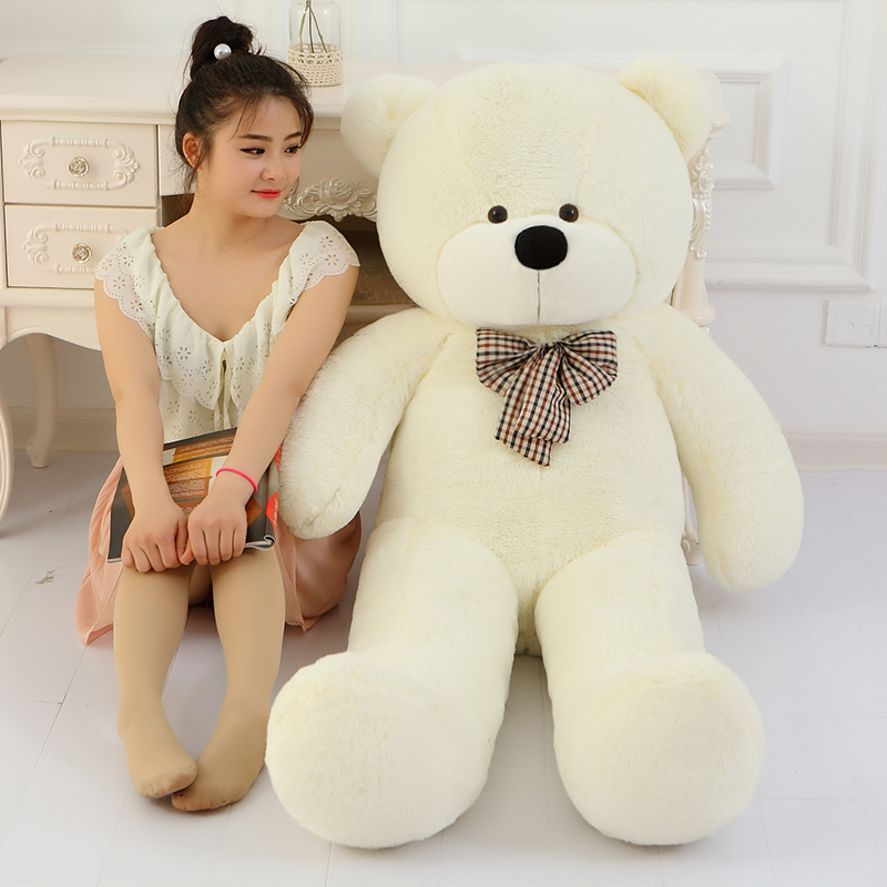 100cm 1m 5 Colors Giant Large Size White Teddy Bear Plush Toys Stuffed Toy Lowest Price Kids Toy Birthday gifts Christmas Gift