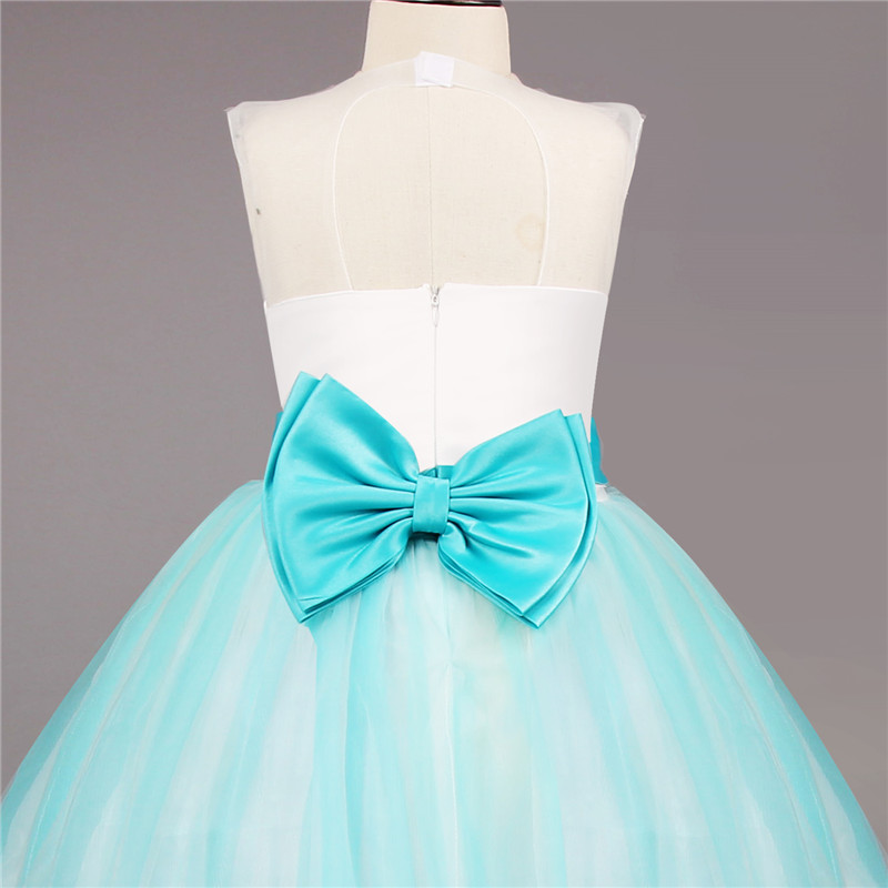 743f9d5cd03d7 US $21.98 40% OFF|Mint Lace Flower Girl Dresses Children Long Tulle Kids  Princess Costume First Communion Gown Fancy Christmas Party Ball Dress-in  ...