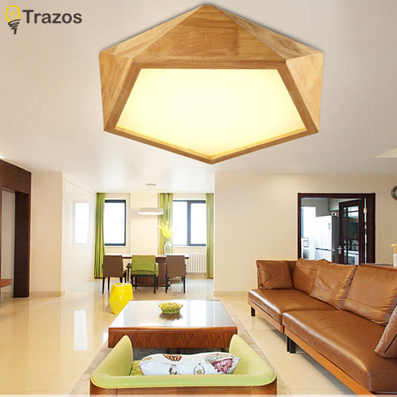 Wooden LED Ceiling Lights For Living Room luminaria abajur Indoor Lights Fixture Ceiling Lamp For Home Decorative Lampshade цена