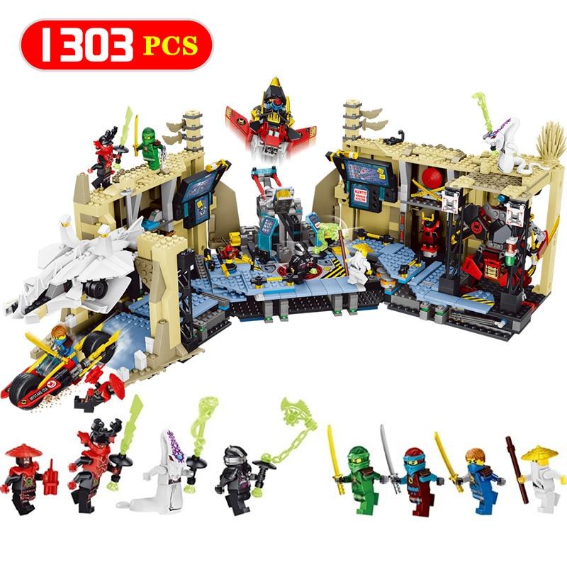 Building Blocks Samurai X Cave Ninjago Series Model LegoINGlys Ninjago Tunnel war Compatible Eductional Technic Toy for Kid dhl new lepin 06039 1351pcs ninja samurai x desert cave chaos nya lloyd pythor building bricks blocks toys compatible 70596