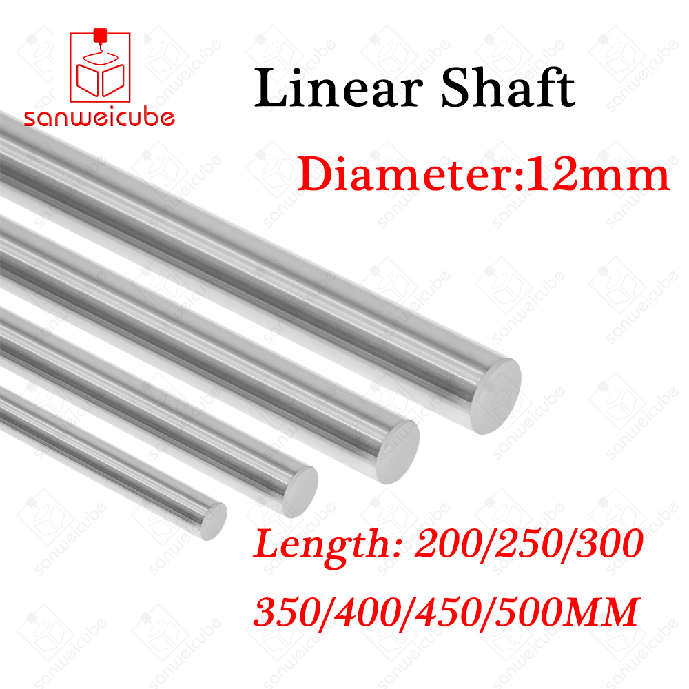 2pcs/lot 12mm linear shaft Length 200 250 300 350 400 450 500 mm chrome plated linear motion guide rail round rod for 3d printer cпрей clean