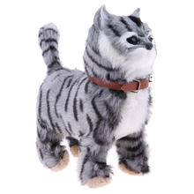 3 High-Tech Cat Electronic Music Pet Soft Stuffed Plush Cat Animal Toys Walking Cat Meow Toys Kids Children Toys Birthday Gifts