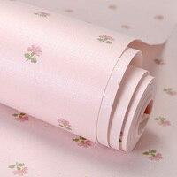 PAYSOTA Coréenne Style Papier Peint Petite Fleur Doux Romantique Rose Fille Chambre Canapé-Lit Fond Mur Rouleau de Papier