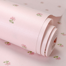 PAYSOTA Korean Style Wallpaper Small Flower Sweet Romantic Pink Girl Bedroom Sofa Bed Background Wall Paper Roll