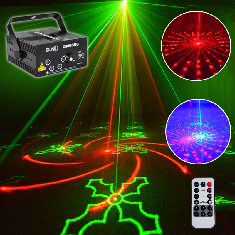 2018 Newest christmas laser projector 80 patterns stage effect disco lights for home music star laser