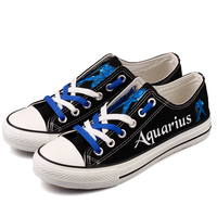 Fashion Design Luminous Aquarius Canvas Shoes Glow In Night Men Boys Superstar Trending Casual Flat Shoes Zapatillas For Couples