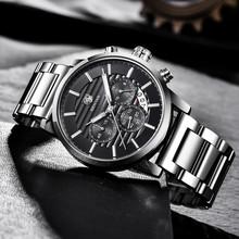 2018 BENYAR Top marka luksusowe męskie zegarki moda na co dzień Chronograph sport wojskowy zegarek kwarcowy zegarek na rękę zegar Relogio Masculino tanie tanio Moda casual Klamra 3Bar QUARTZ Ze stali nierdzewnej 23cm Hardlex 15mm 22mm Okrągły Kwarcowe Zegarki Na Rękę Papier