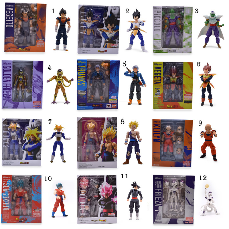 12 Styles Anime Dragon ball Z SHF Figuarts Son Goku Trunks Frieza Vegeta Krillin Zamasu Piccolo PVC Action Figure Model DIY Toy цена