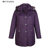 MS VASSA Plus Size Womens Coats Hoodeds Down Parka Winter Jacket Women Ukraine Wide Waisted Turn