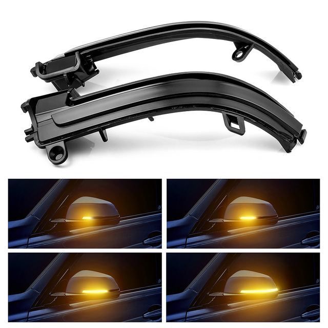 LED Side Wing Rearview Mirror Indicator Blinker Repeater Dynamic Turn Signal Light For BMW F20 F21 F22 F30 E84 1 2 3 4 Series