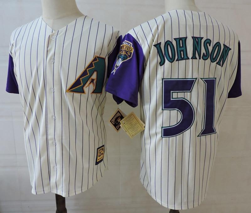 MLB Mens Arizona Paul Goldschmidt A.J. Pollock Curt Schilling Diamondbacks Randy Johnson 51 jerseys