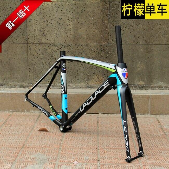 free shipping original laplace road frame alloy bike frame size 4850cm including carbon fork